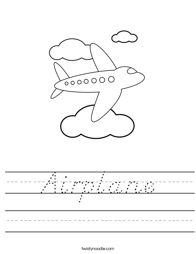 Airplane Worksheet