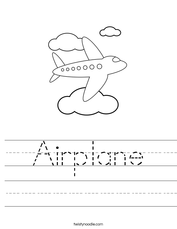 Airplane Worksheet - Twisty Noodle