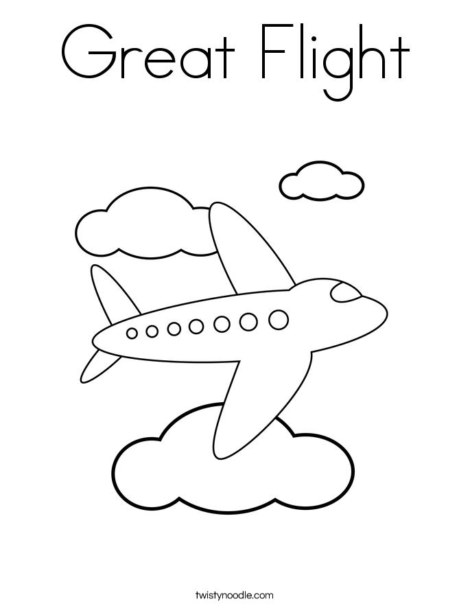 Great Flight Coloring Page