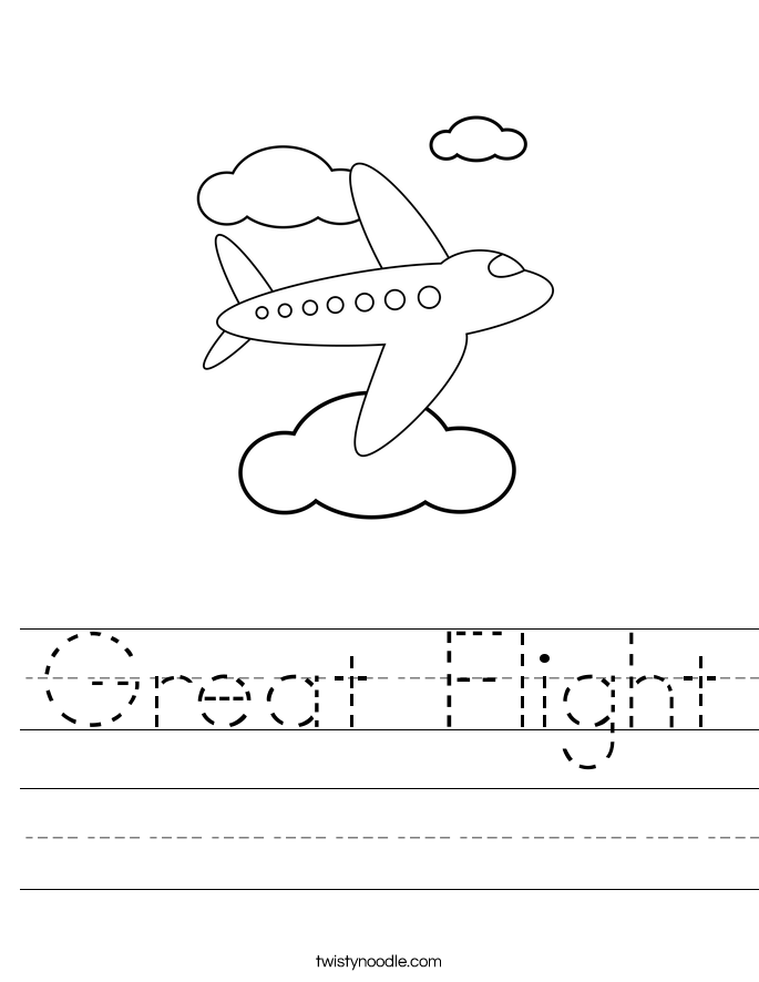 Great Flight Worksheet