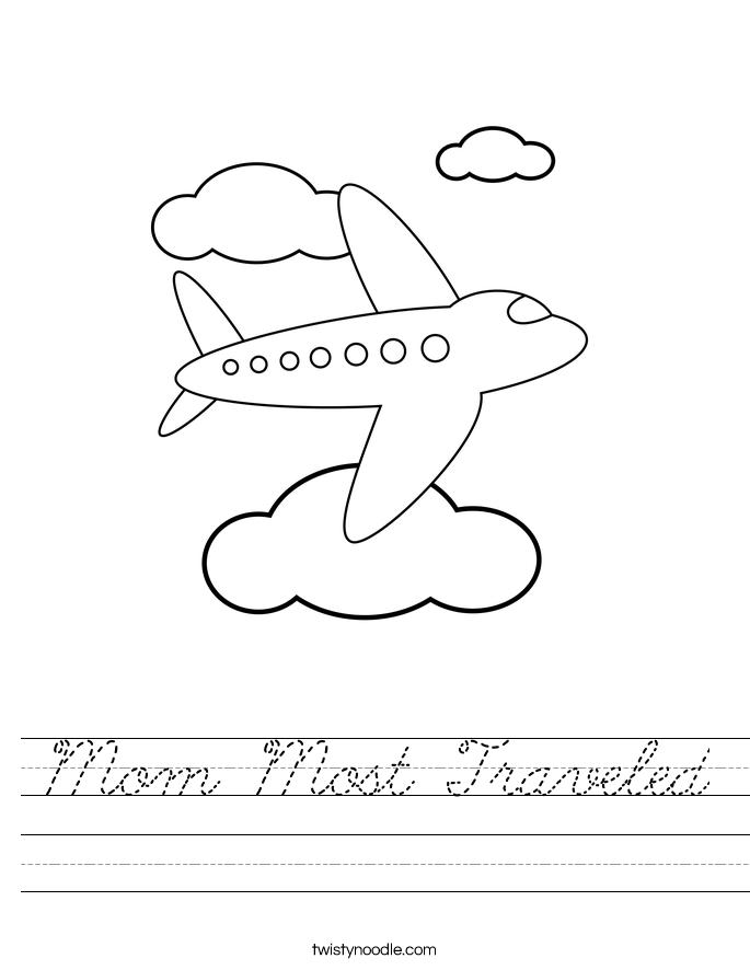 Mom Most Traveled Worksheet