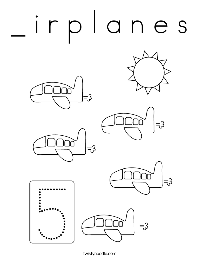_ i r p l a n e s Coloring Page