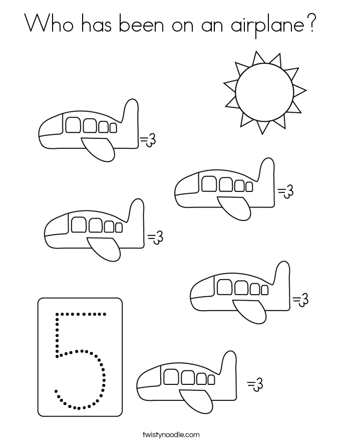 Who has been on an airplane? Coloring Page