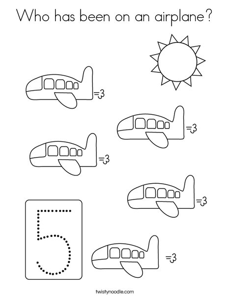 Four Airplanes Coloring Page