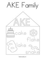 AKE Family Coloring Page