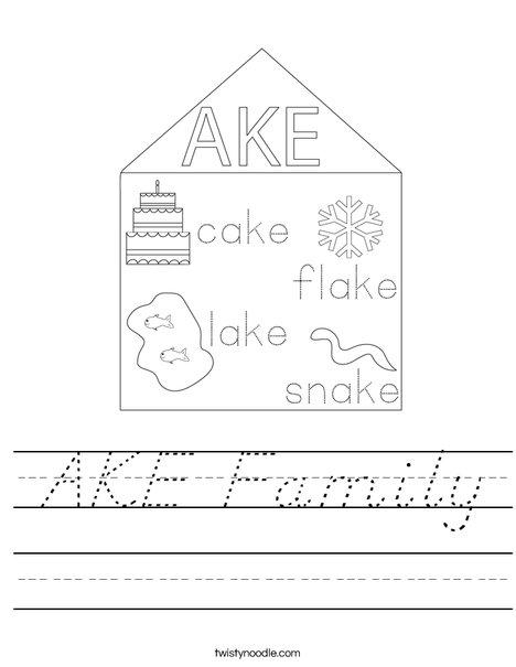 AKE Family Worksheet