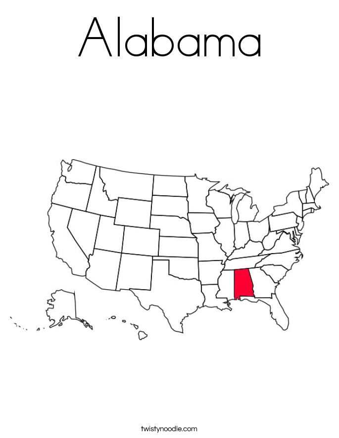 Alabama Coloring Page