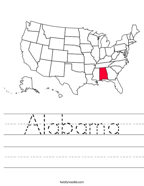 Alabama Worksheet