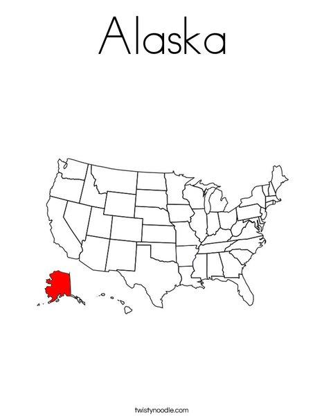 Alaska Coloring Page
