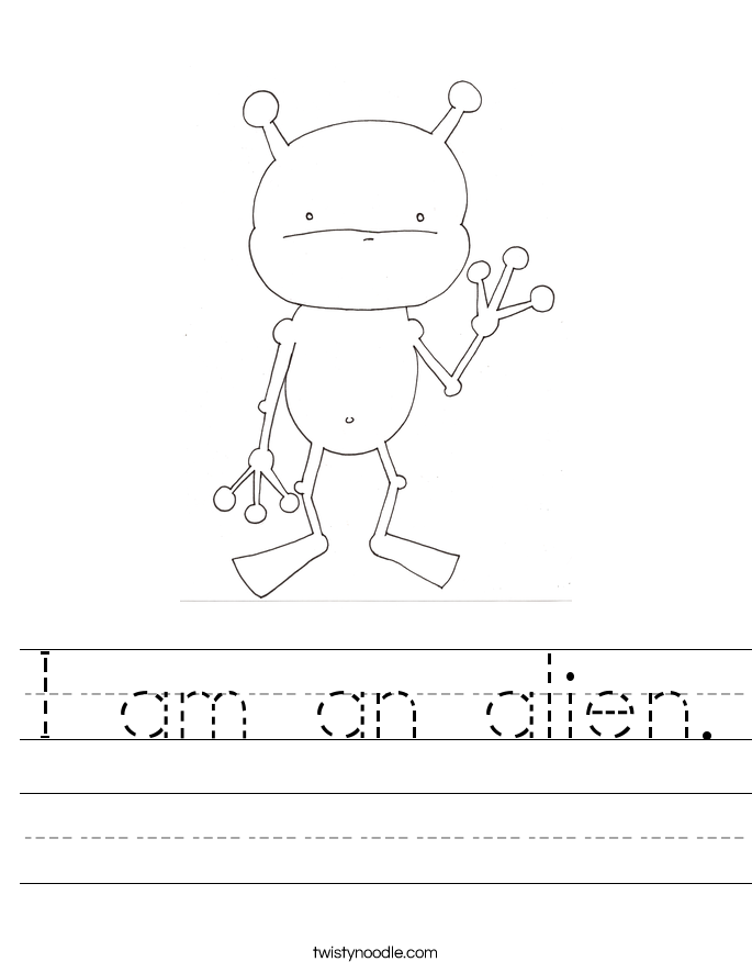 I am an alien. Worksheet