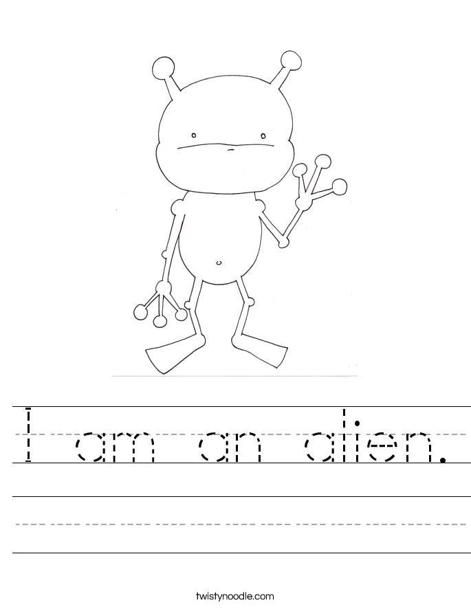 I am an alien. Worksheet
