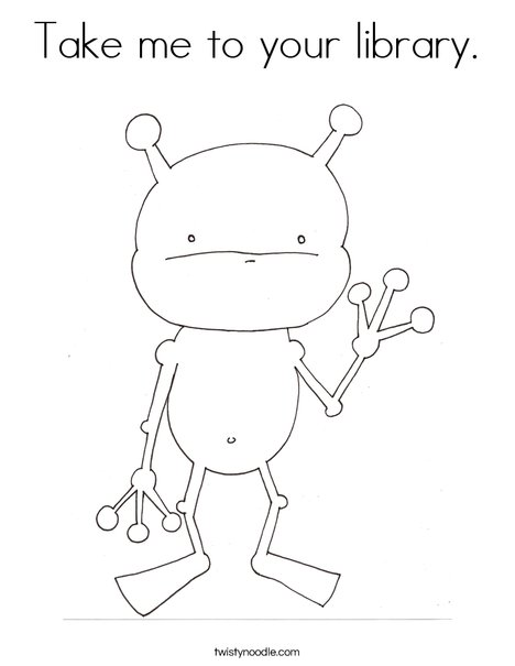 Alien by Melissa Coloring Page