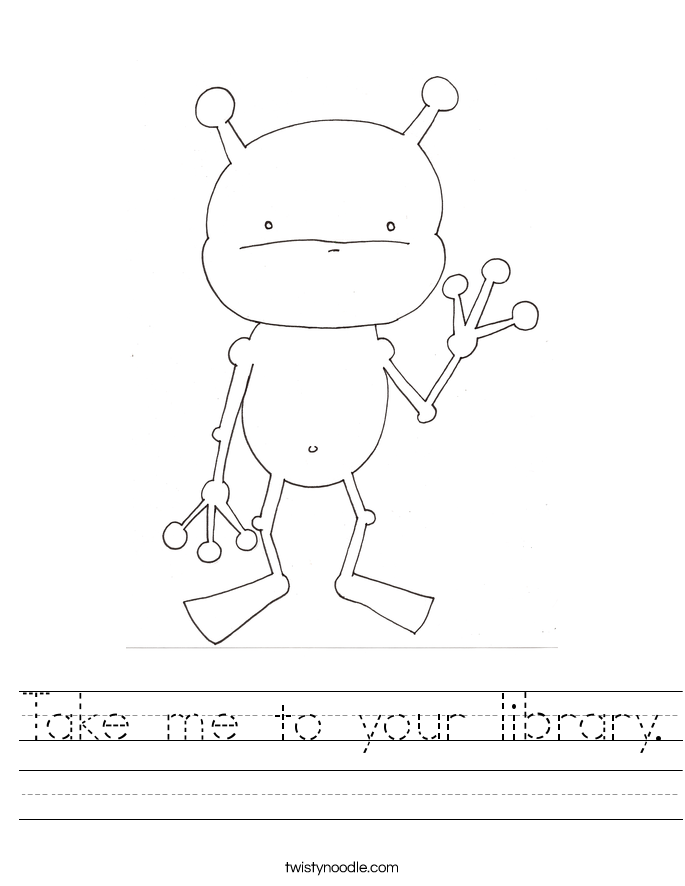 Take me to your library. Worksheet