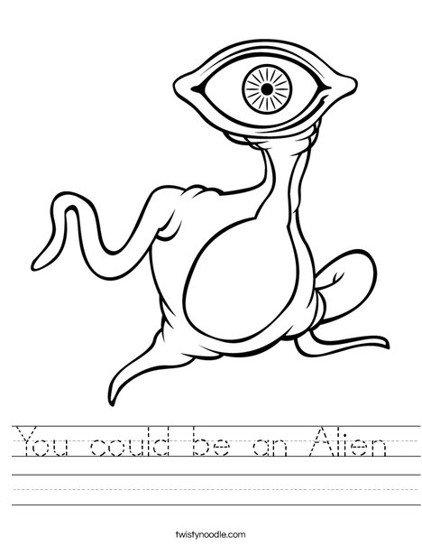 You Could Be An Alien Worksheet Twisty Noodle