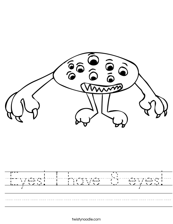Eyes! I have 8 eyes! Worksheet
