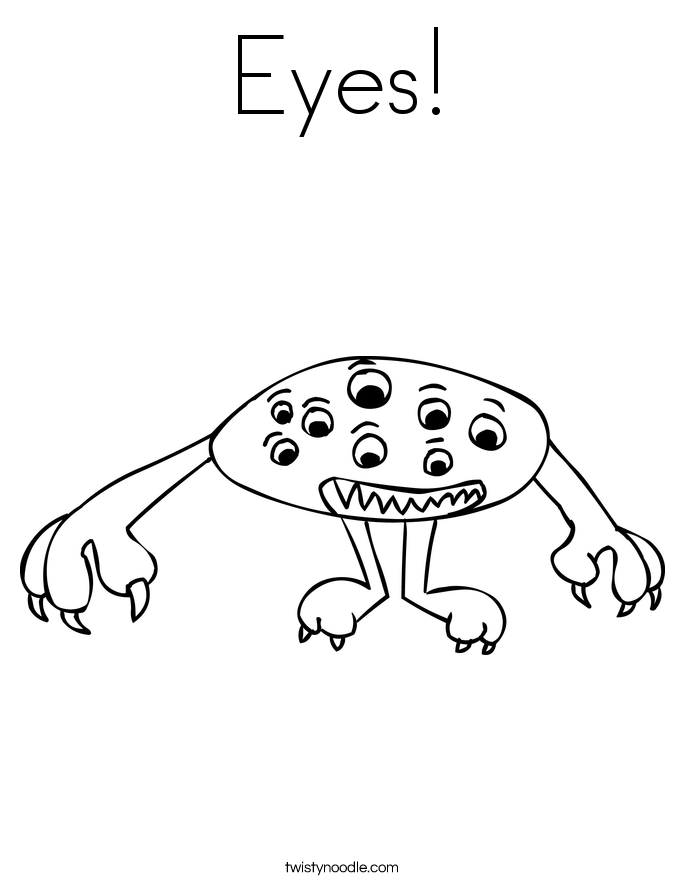 Eyes! Coloring Page