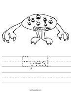 Eyes Handwriting Sheet
