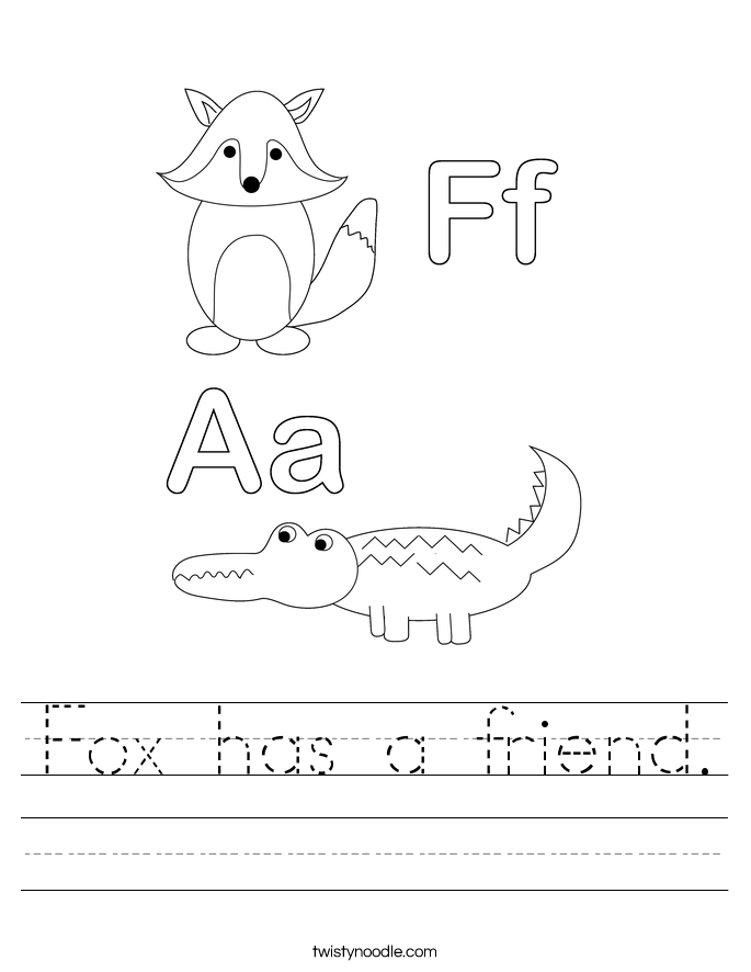 Fox has a friend. Worksheet