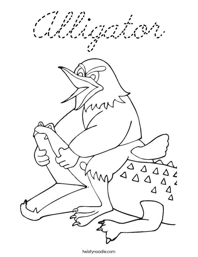 Florida gators coloring pages cursive coloring pages for Cursive coloring pages