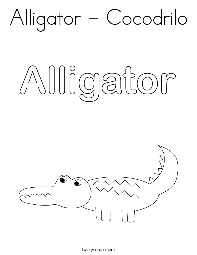 Alligator - Cocodrilo Coloring Page