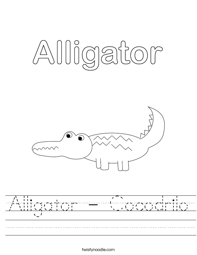 Alligator - Cocodrilo Worksheet