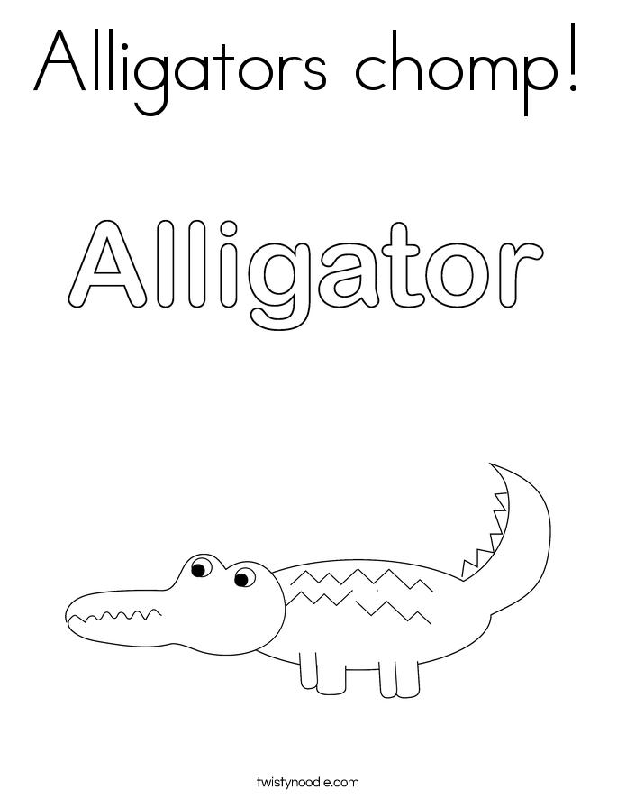 Alligators chomp! Coloring Page