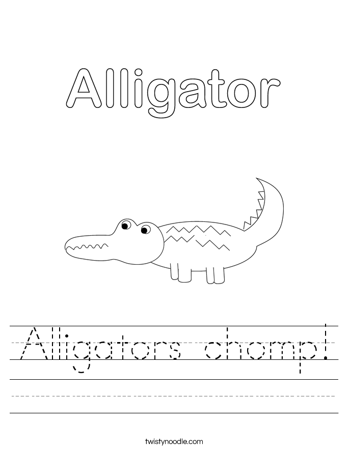 Alligators chomp! Worksheet