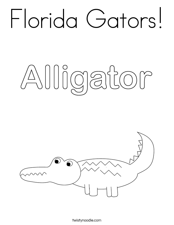 Florida coloring pages coloring pages for Florida gator coloring pages