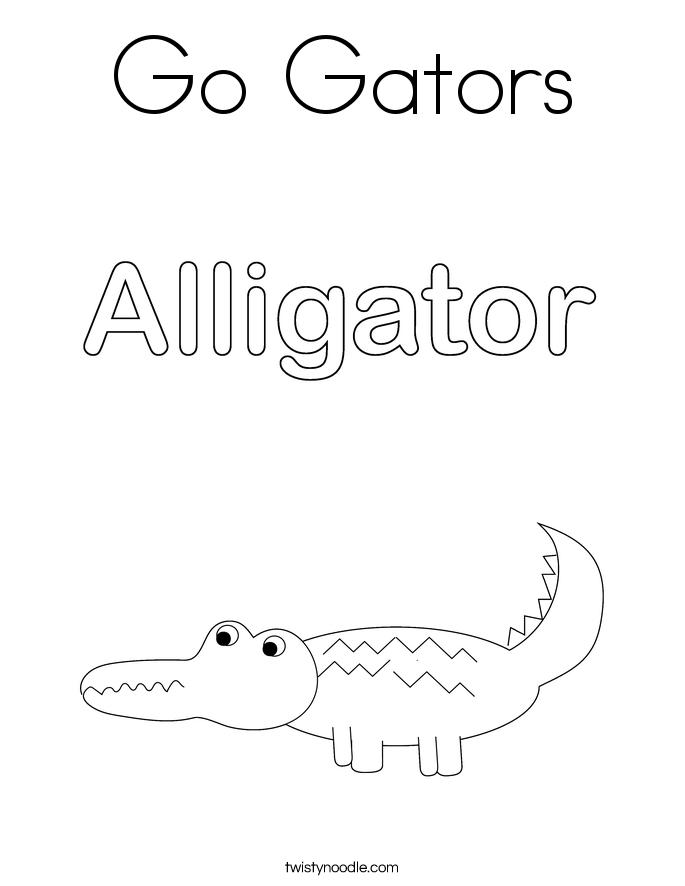 Go Gators Coloring Page