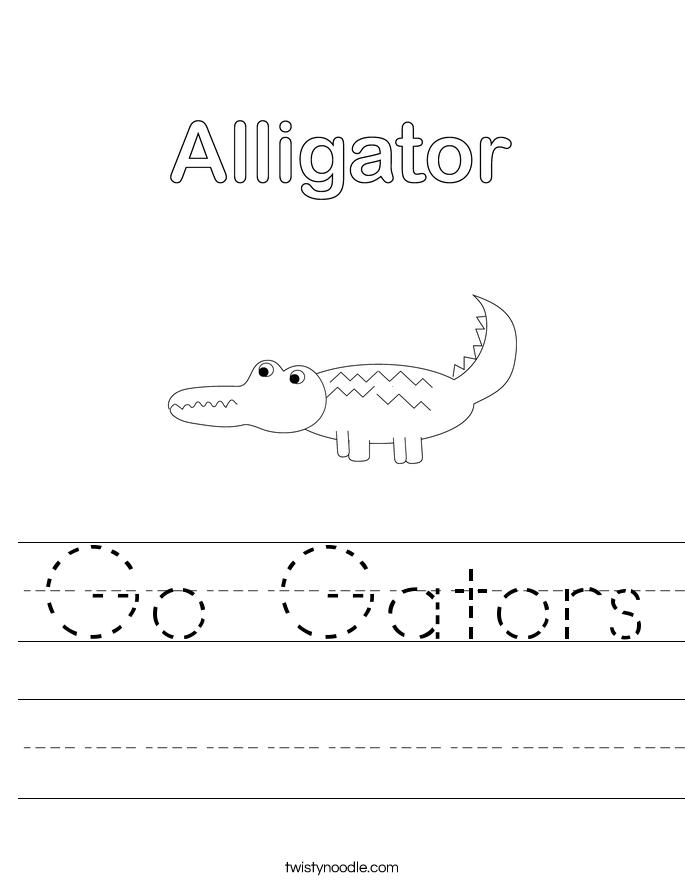 Go Gators Worksheet