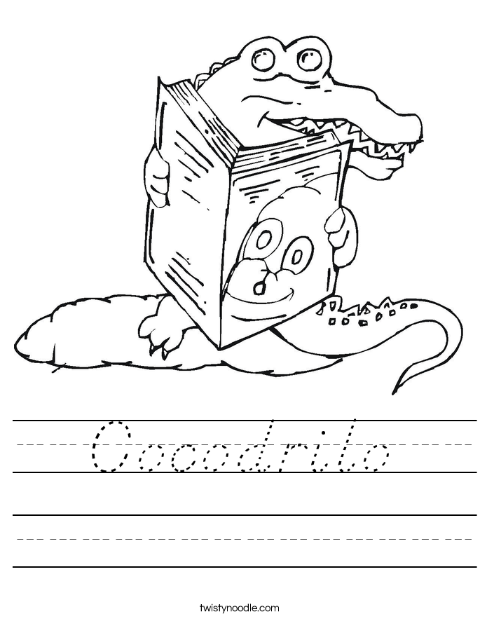 Cocodrilo Worksheet