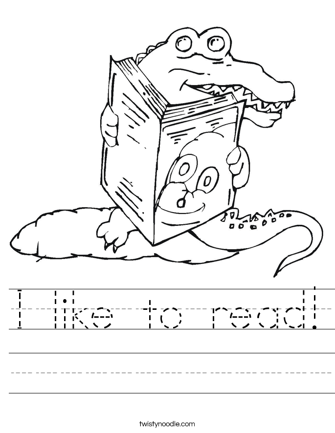 I like to read! Worksheet
