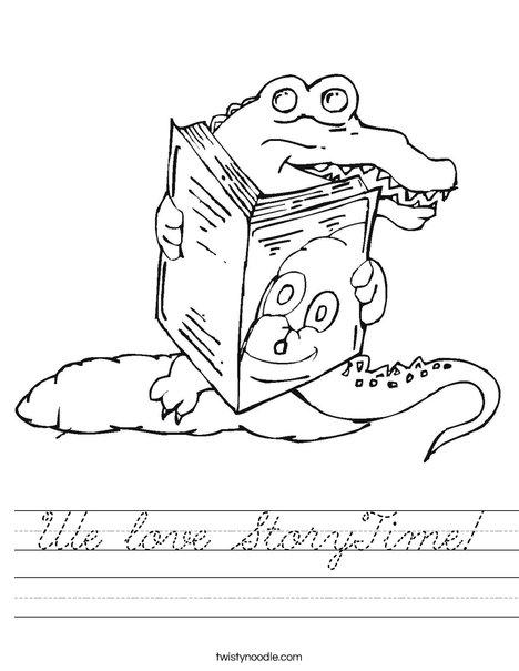 Alligator reading a book Worksheet