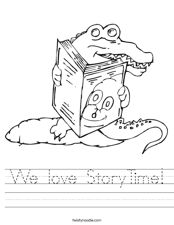 We love StoryTime! Worksheet