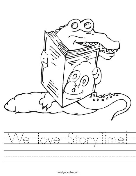 Alligator reading a book Worksheet