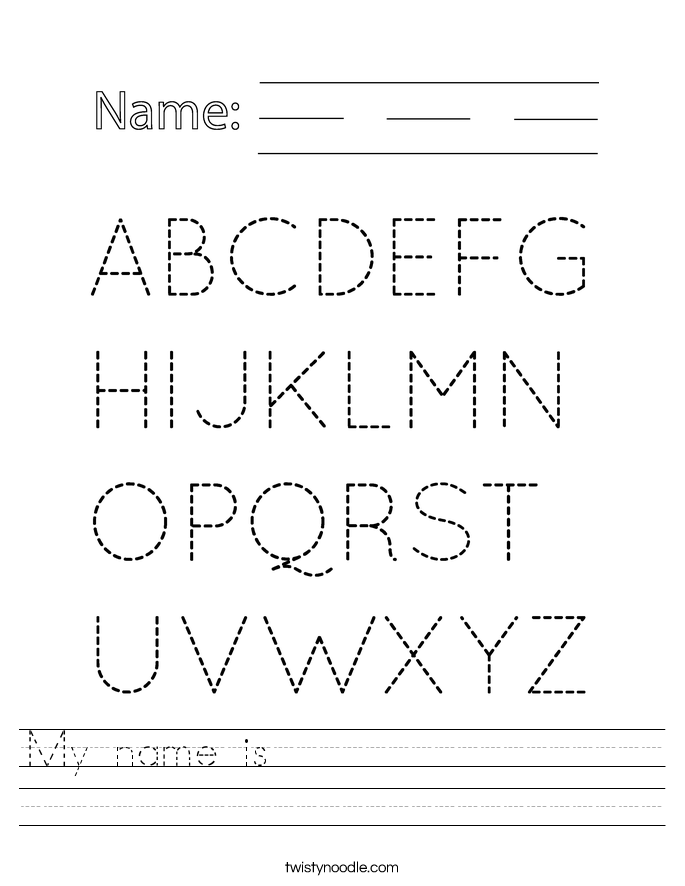 Printables Name Worksheets printable name tracing worksheets abitlikethis my is worksheet twisty noodle