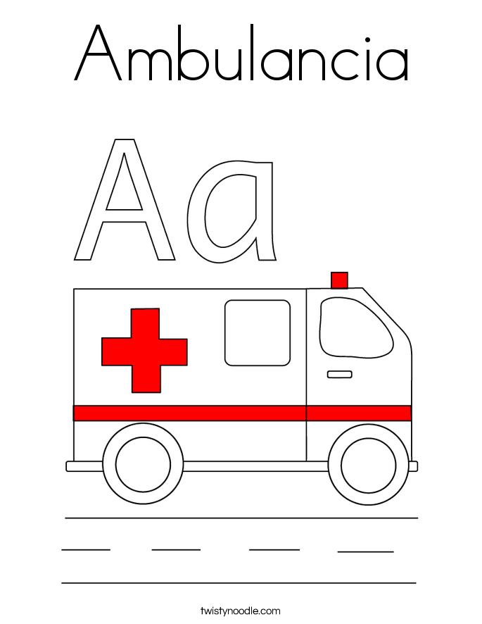 Ambulancia Coloring Page