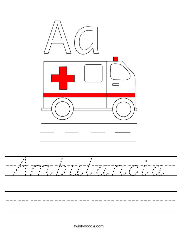 Ambulancia Worksheet