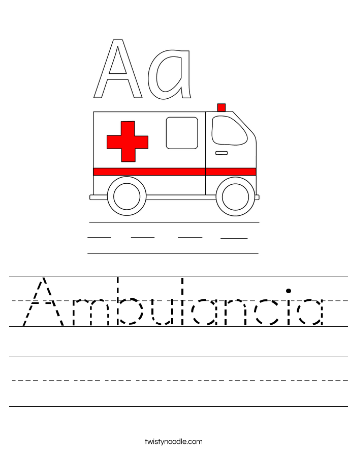 Ambulancia Worksheet