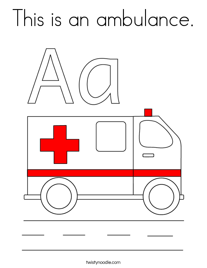 This is an ambulance. Coloring Page