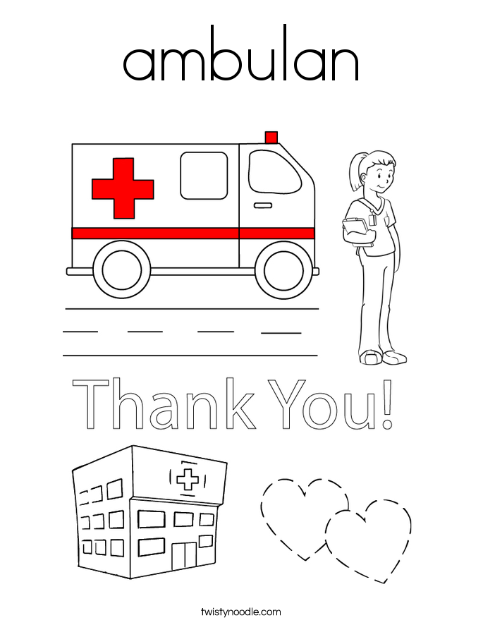 ambulan Coloring Page