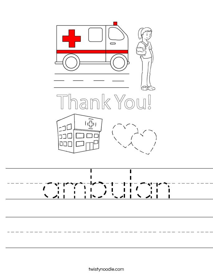 ambulan Worksheet