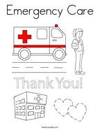 emergency care coloring page - Ambulance Pictures To Colour