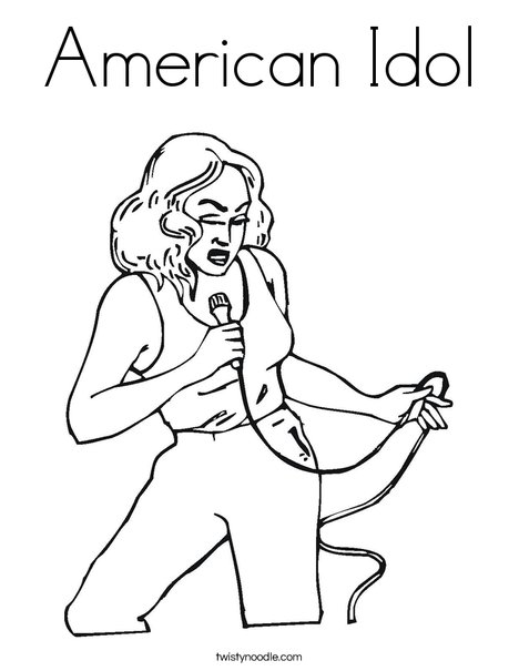 american idol coloring pages - photo#1