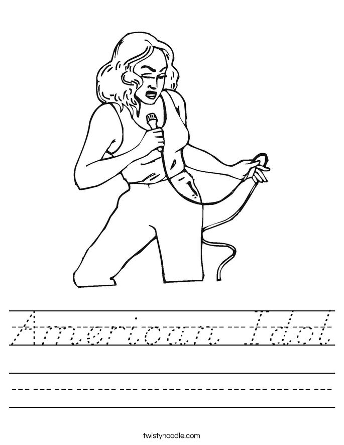 American Idol Worksheet