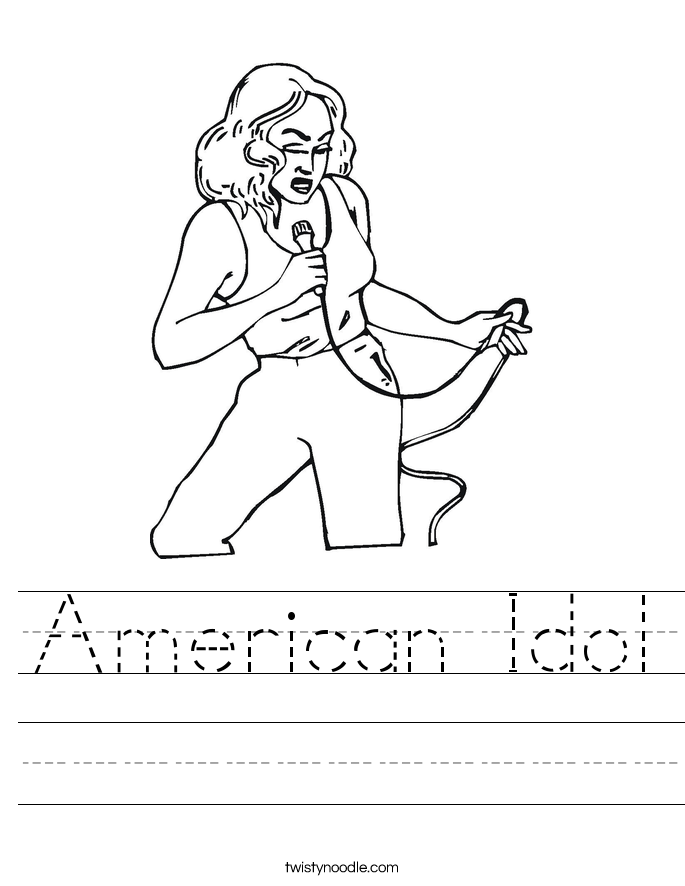 American Idol Worksheet