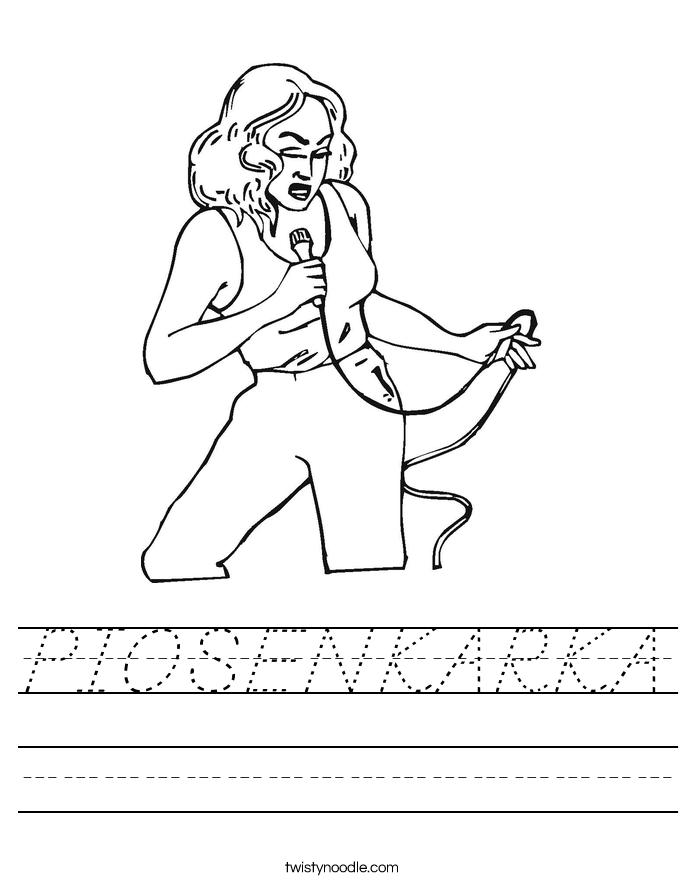 PIOSENKARKA Worksheet