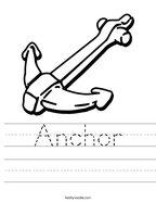Anchor Handwriting Sheet