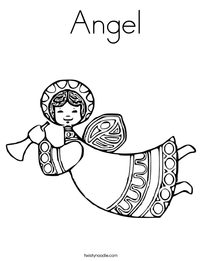 Angel Coloring Page Twisty Noodle