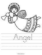 Angel Handwriting Sheet
